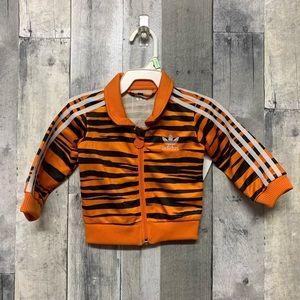 Adidas 3-6 Month Tiger Print Track Jacket